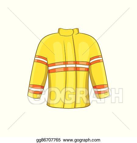 Vector icon cartoon style. Fire clipart jacket