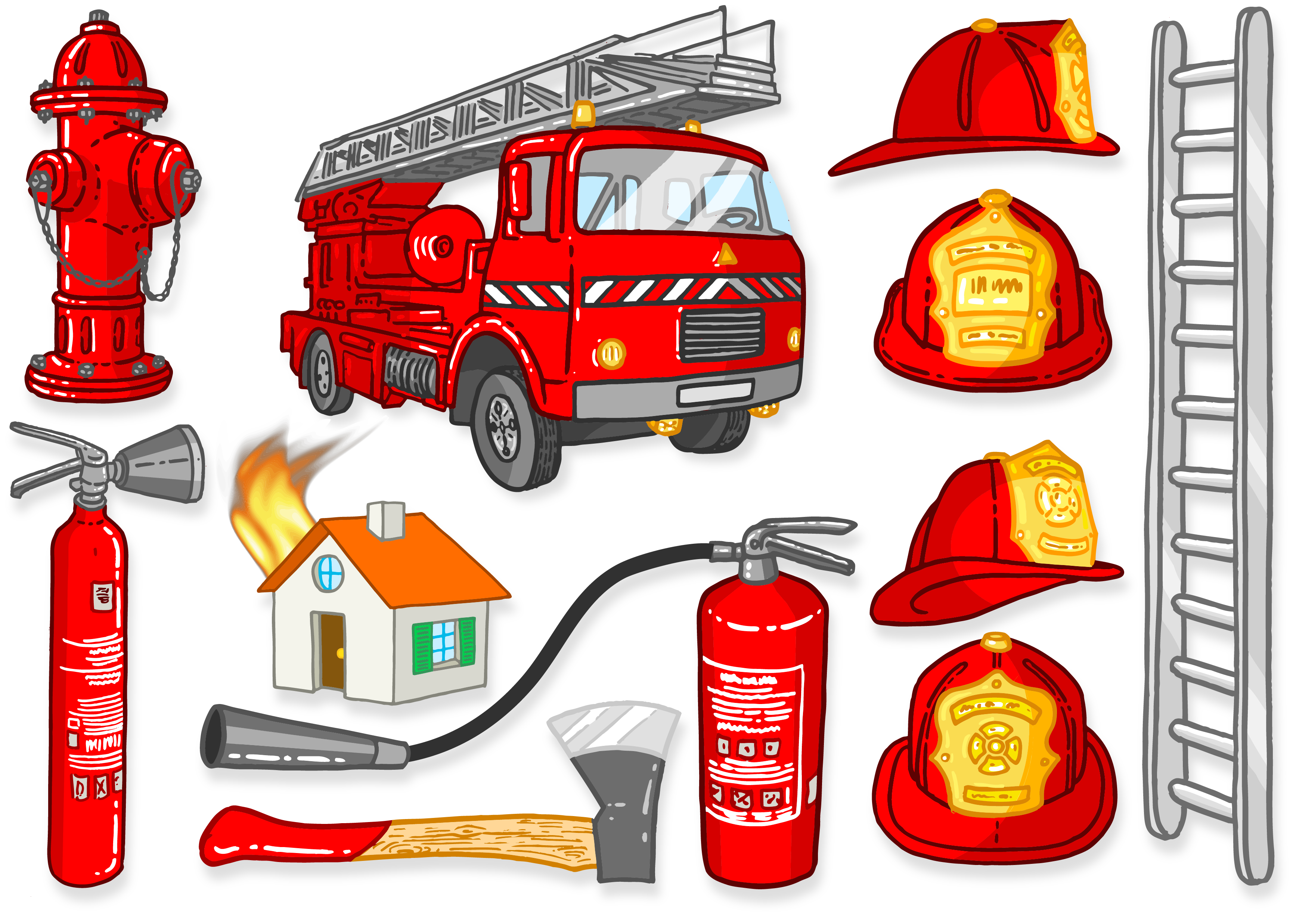 Gear clipart automotive tool. Firefighter firefighting fire engine