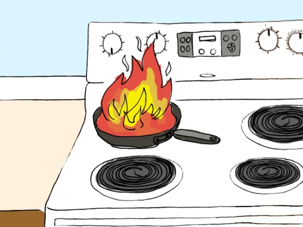 How to repair common. Clipart fire kitchen fire