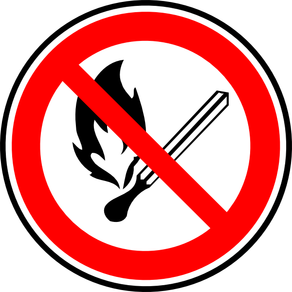 Clipart flames bitmap. No fire or allowed