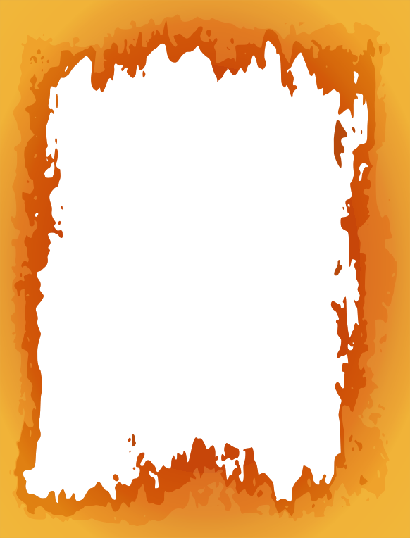Fire border medium image. Corner clipart vegetable