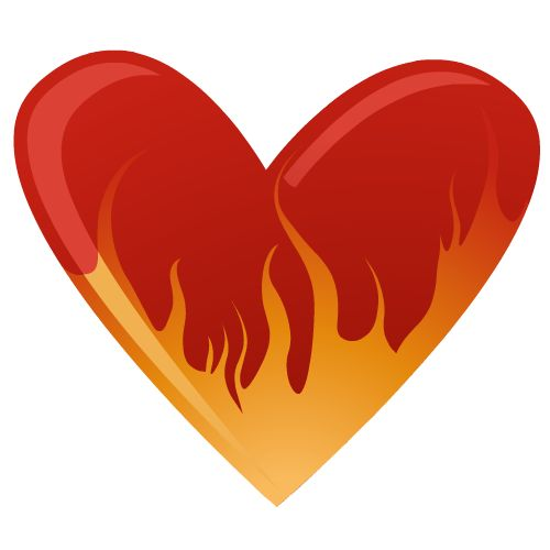 Free hearts cliparts download. Fire clipart love