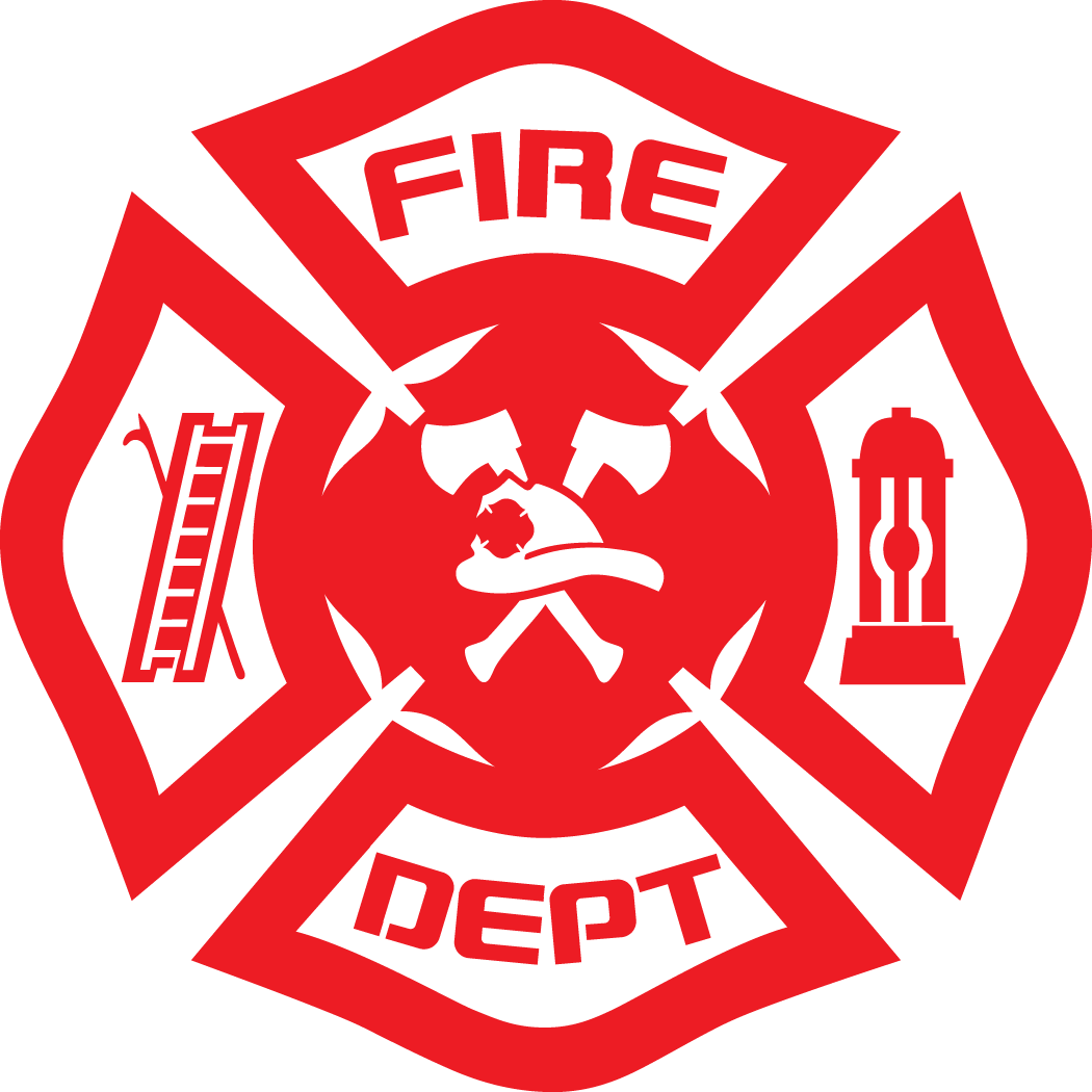 clipart shield fire department