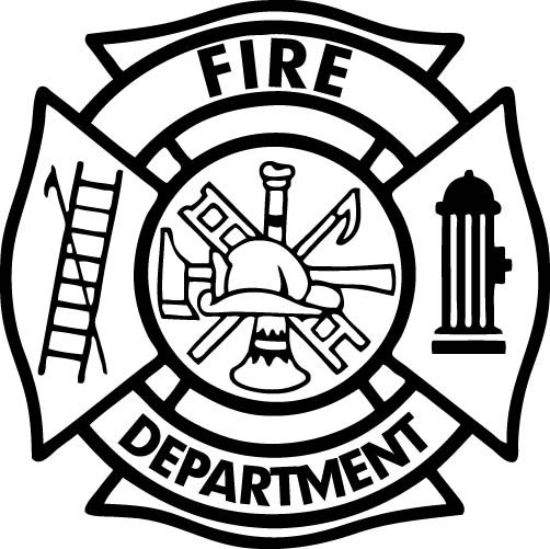 Maltese cross vector art. Firefighter clipart symbol