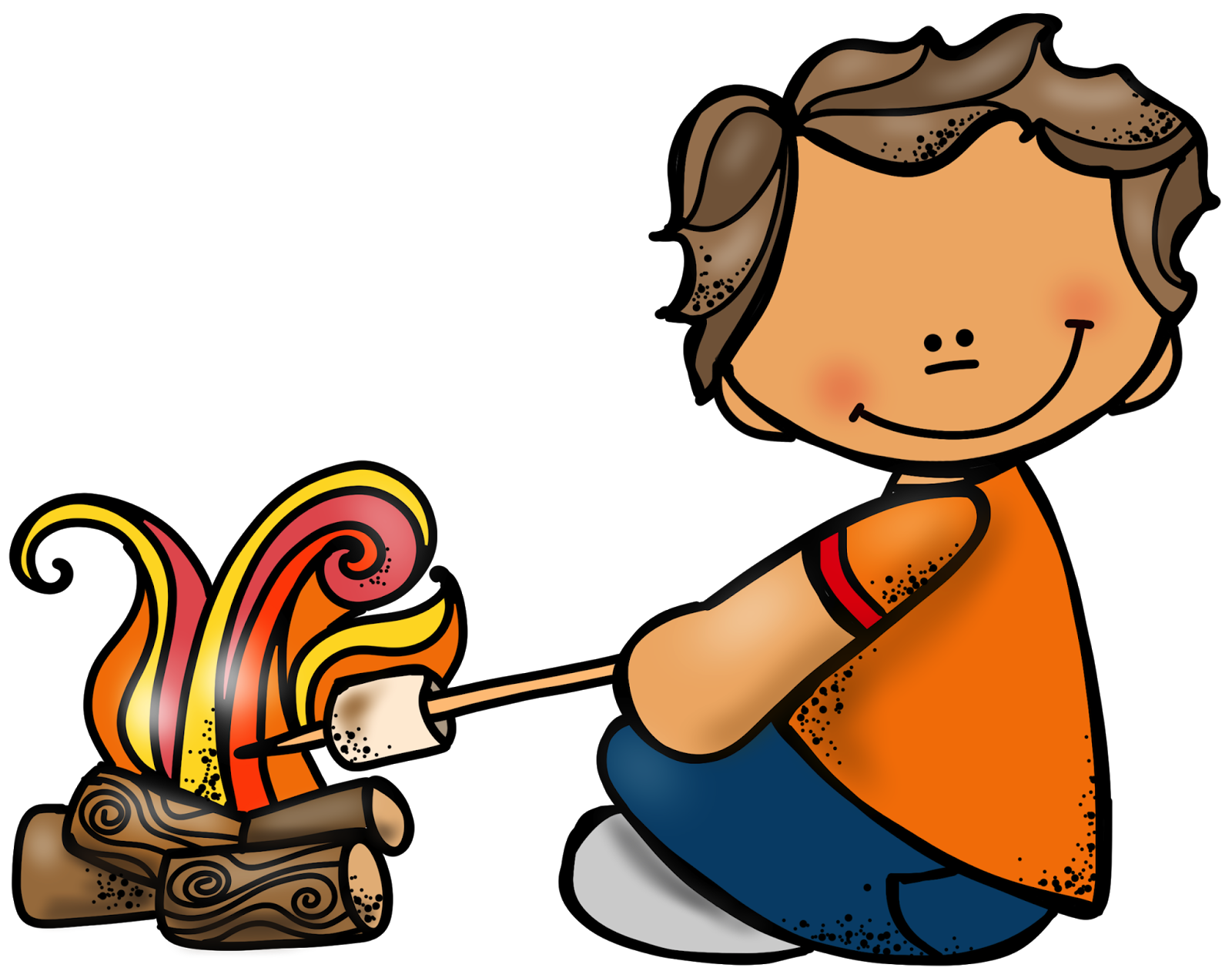 Clipart fire marshmallow. June flipping for first