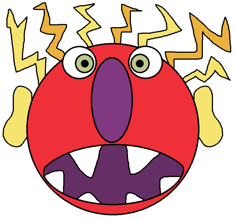 Graphics by ruth . Monster clipart angry monster
