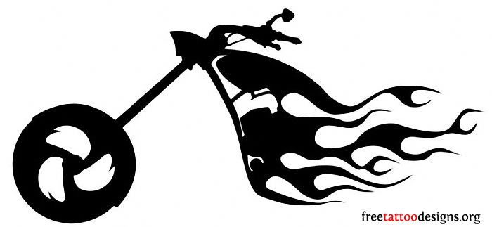 Motorcycle clipart fire. Harley black and white