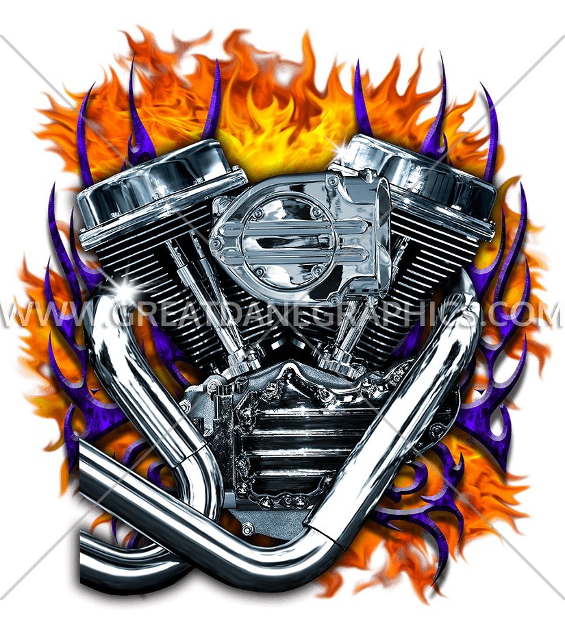 Engine fire production ready. Flames clipart motorcycle