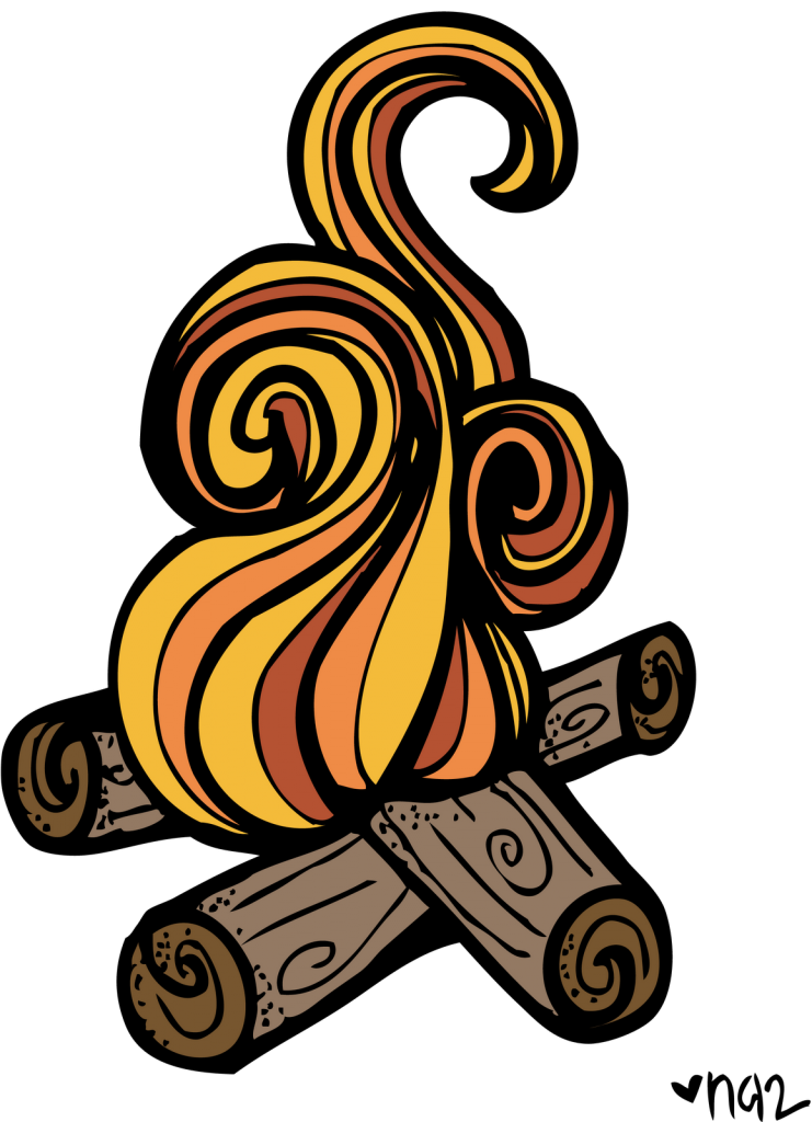 firewood clipart fogata