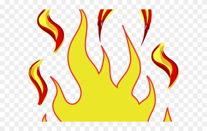 Flame clipart outline. Fire flames clip art