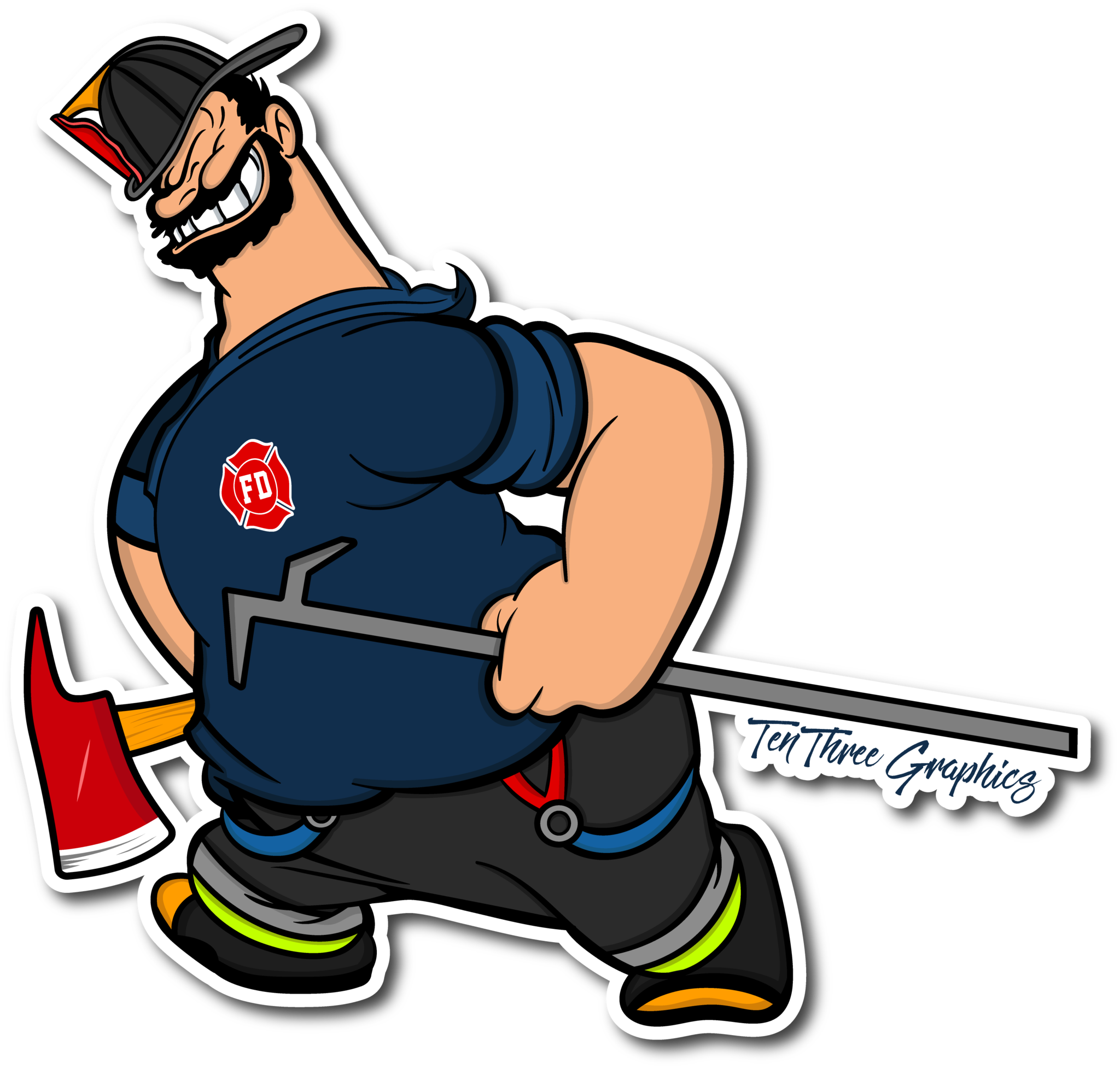 Truckie decal pinterest firefighter. Fireman clipart boot
