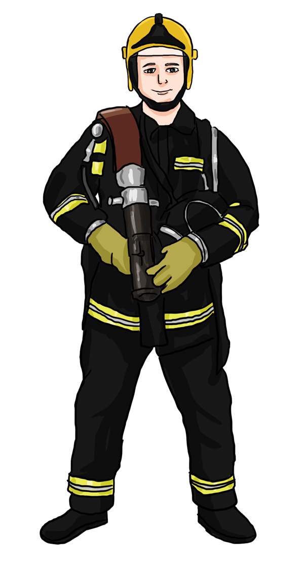 Fireman cute firefighter free. Clipart fire person
