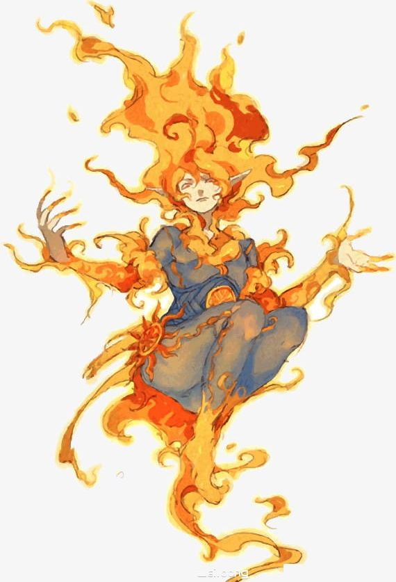 Fire clipart person. Png game naruto