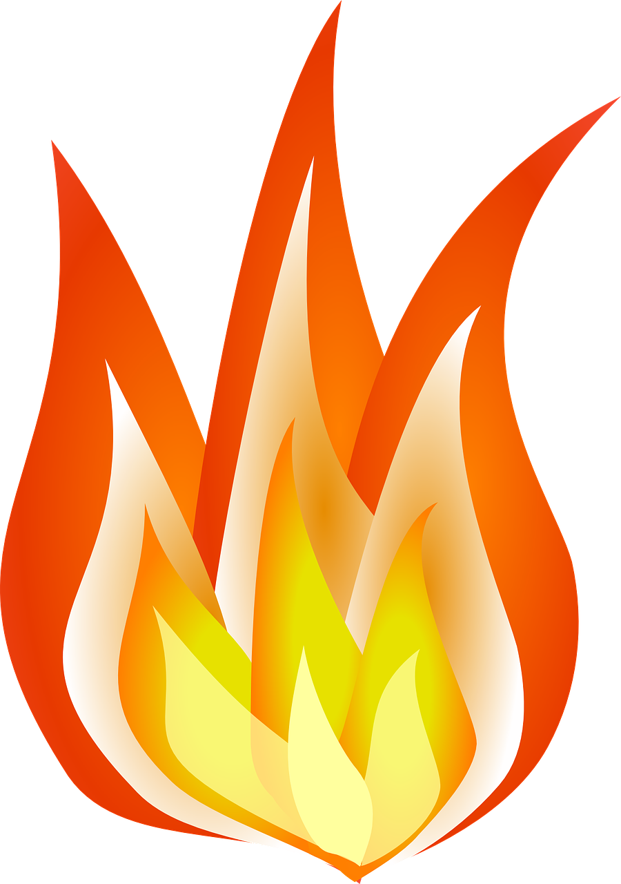 Fire clipart printable. Flames how to draw