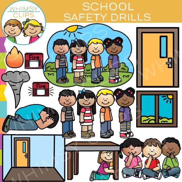 Safety drills clip art. Fire clipart school