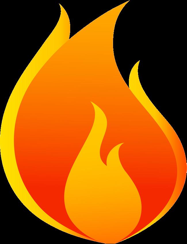 Flame chart flames shape. Fire clipart cartoon