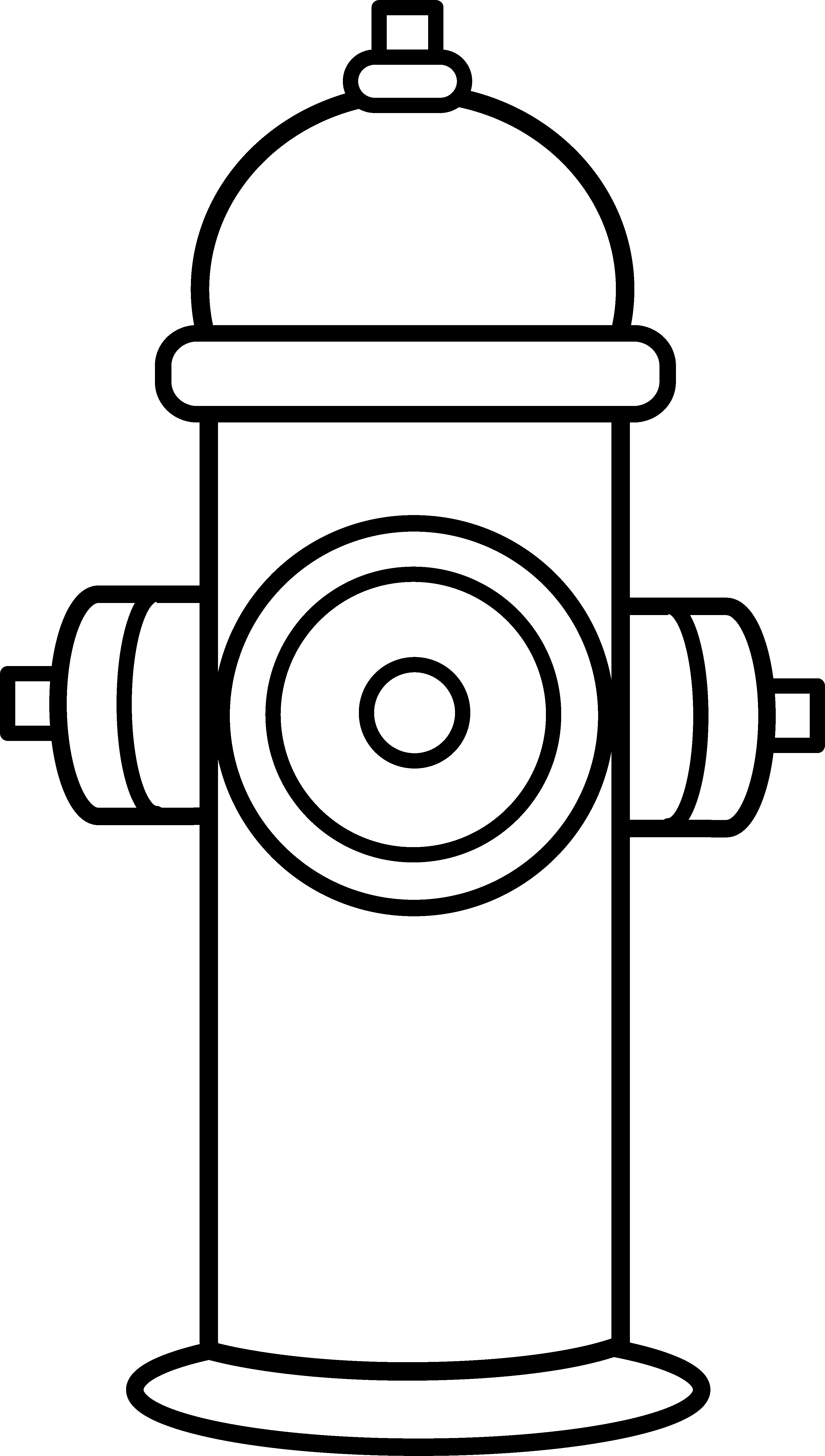 Fire hydrant silhouette at. Clipart puppy firefighter
