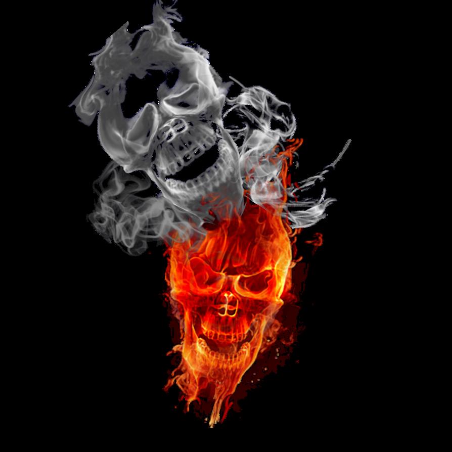 N fire by cak. Smoke skull png