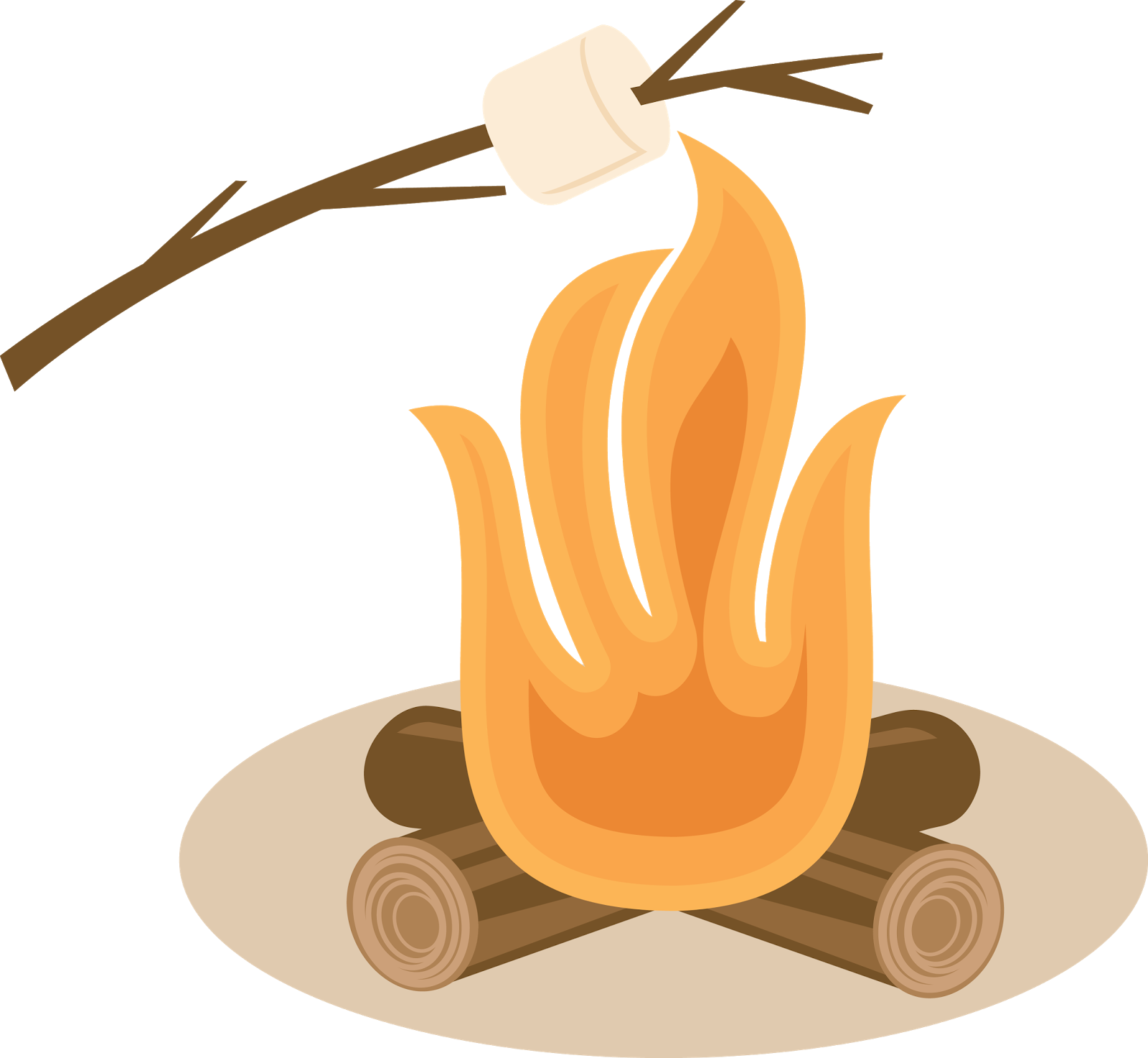 Clipart fire smore. S more toast marshmallow