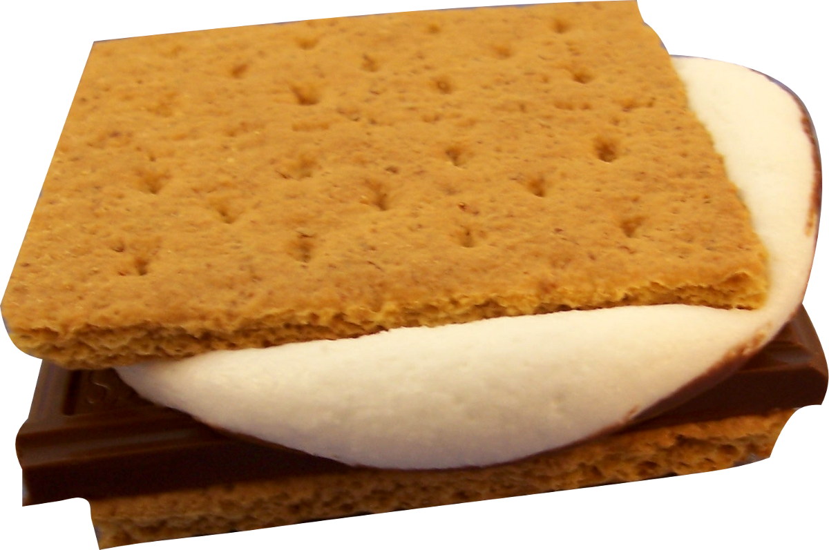 National s mores day. Clipart fire smore
