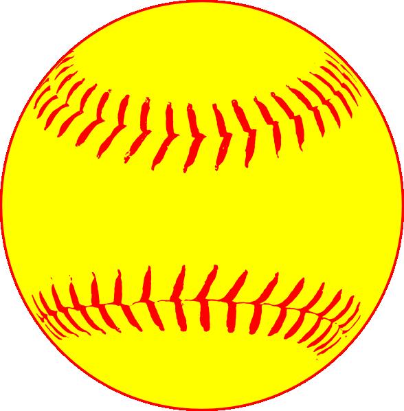 Softball clipart design. Yellow clip art at