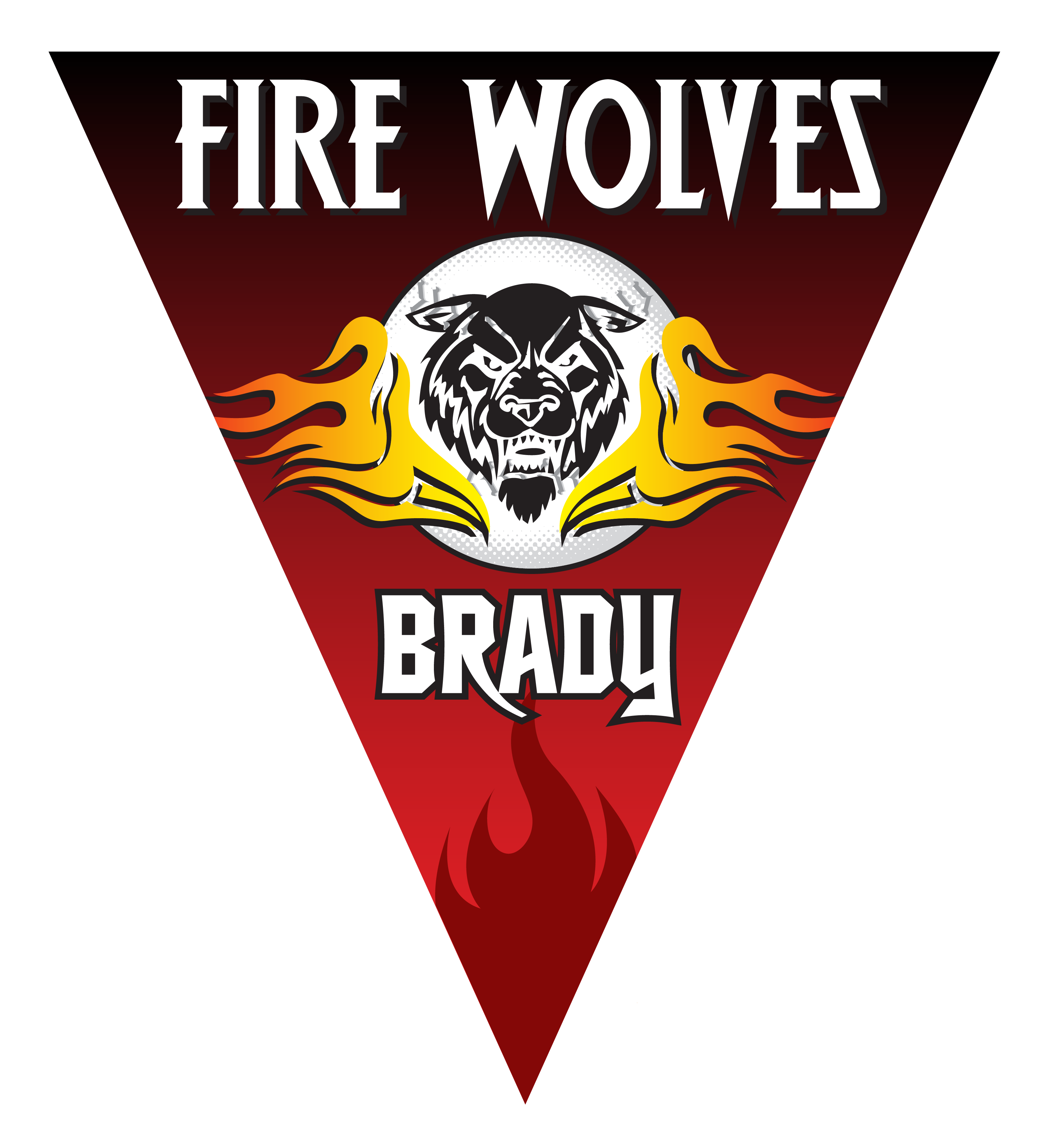 Wolves triangle individual team. Fire clipart softball