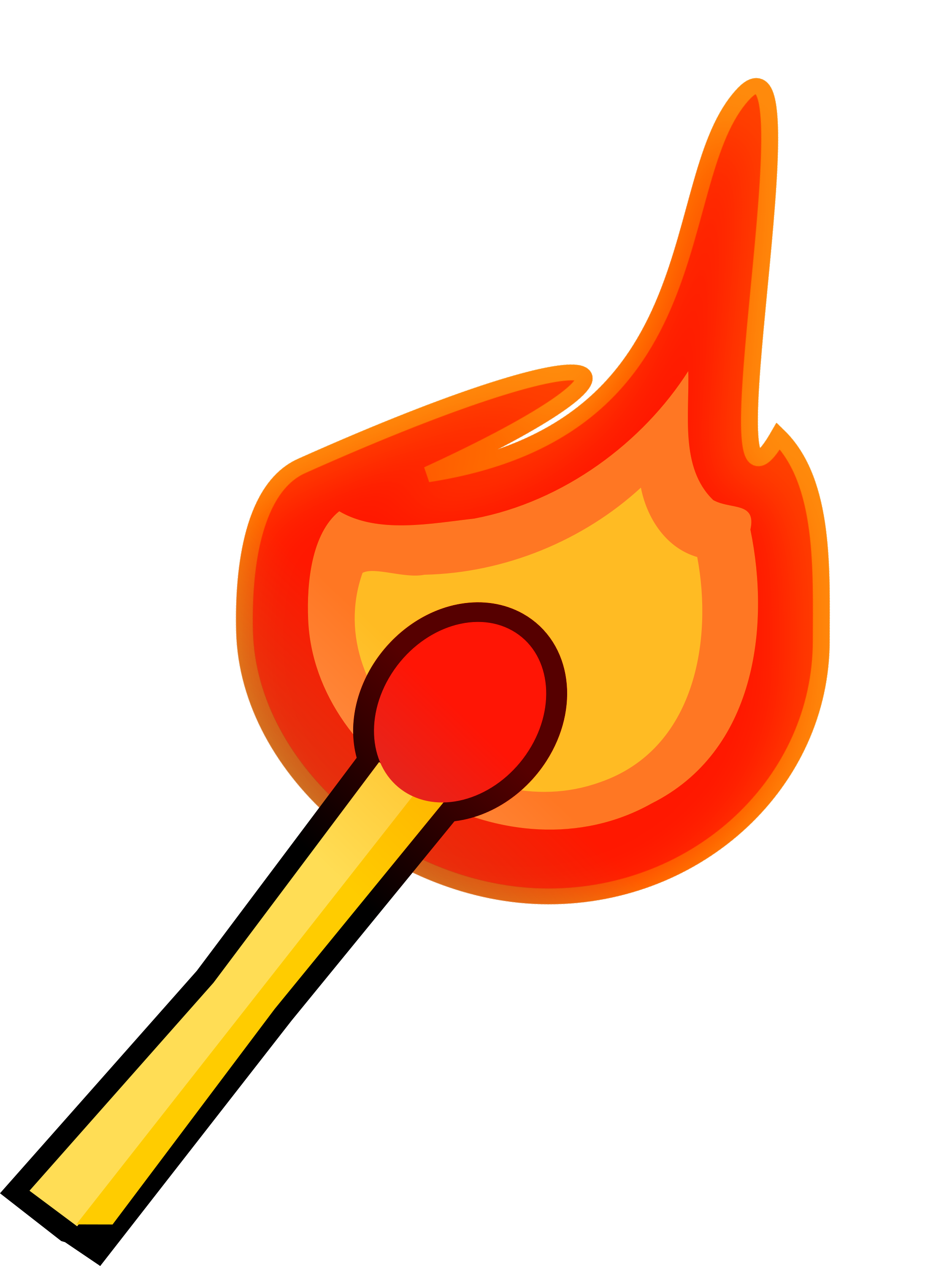 Burning match fire isolated. Fireplace clipart library