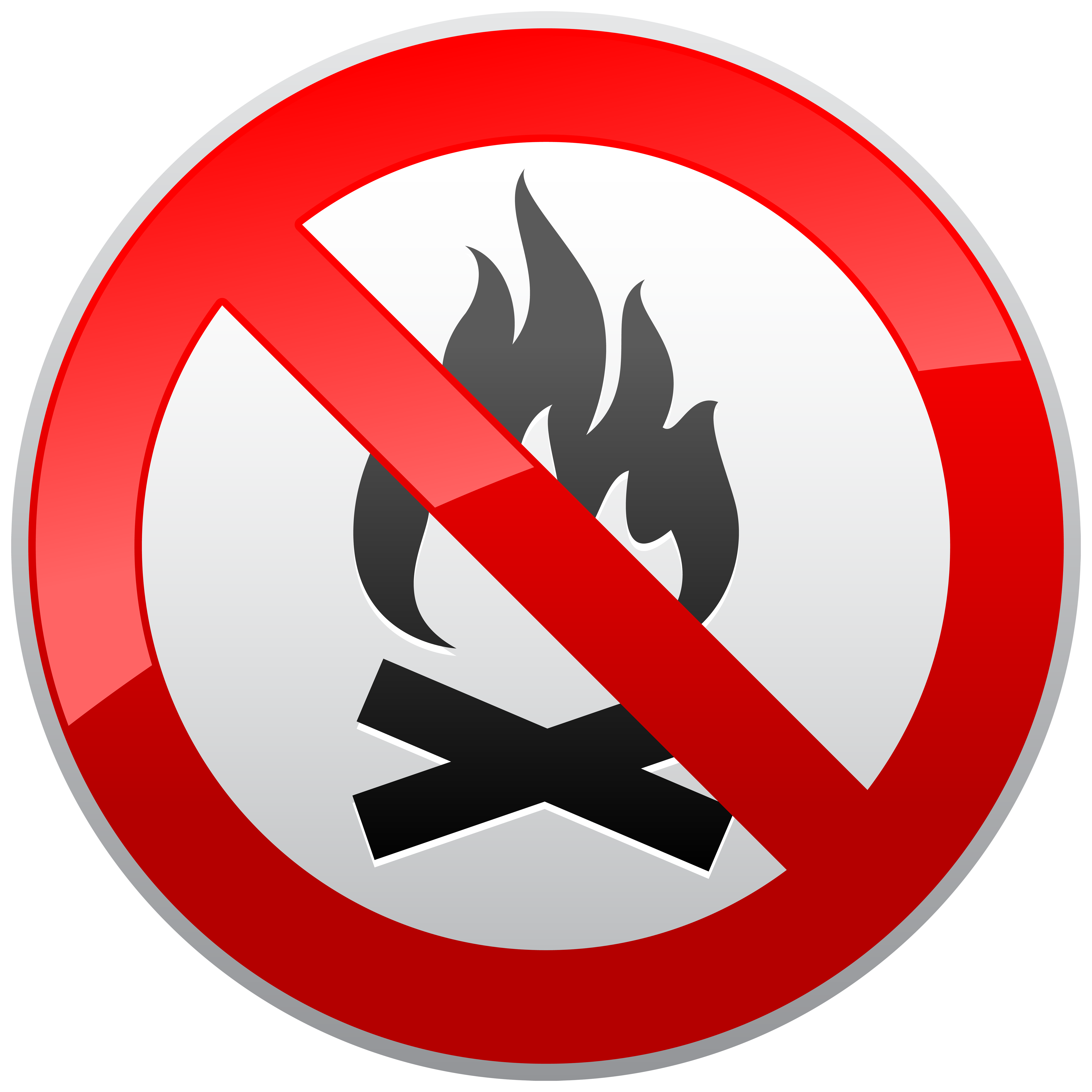 No prohibition sign best. Clipart png fire