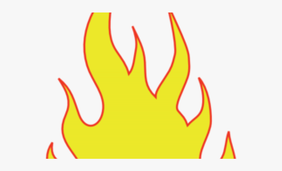 Clipart flames line. Fire flame template free