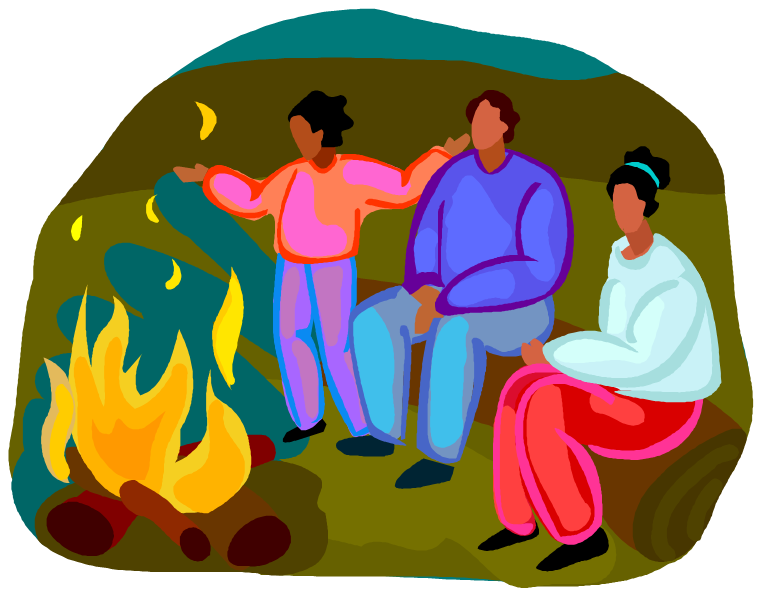 collection of singing. Clipart tent campfire