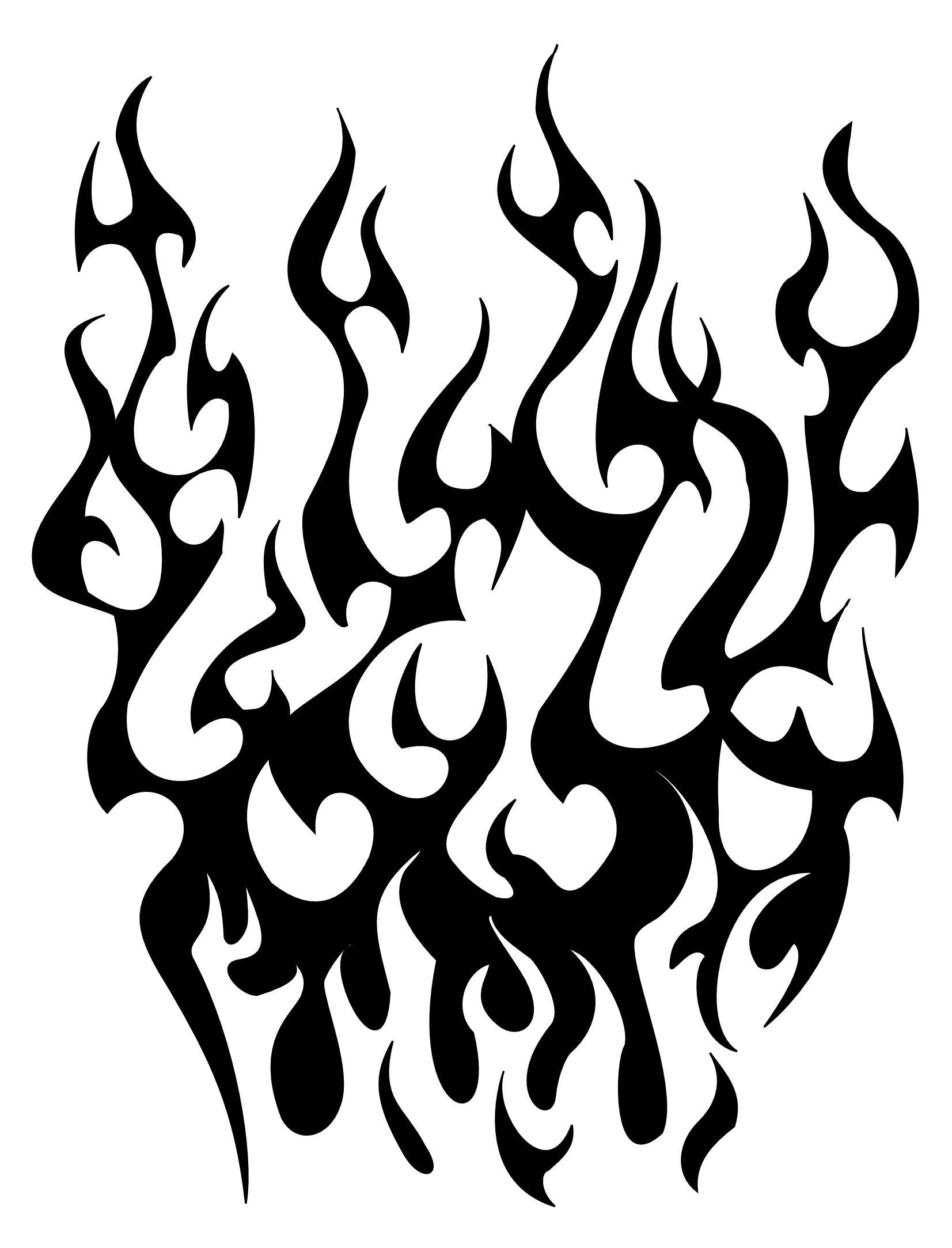 Clipart flames tribal. Free fire tattoo download