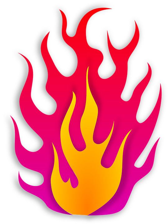 Clipart fire vector. Flames burning pencil and