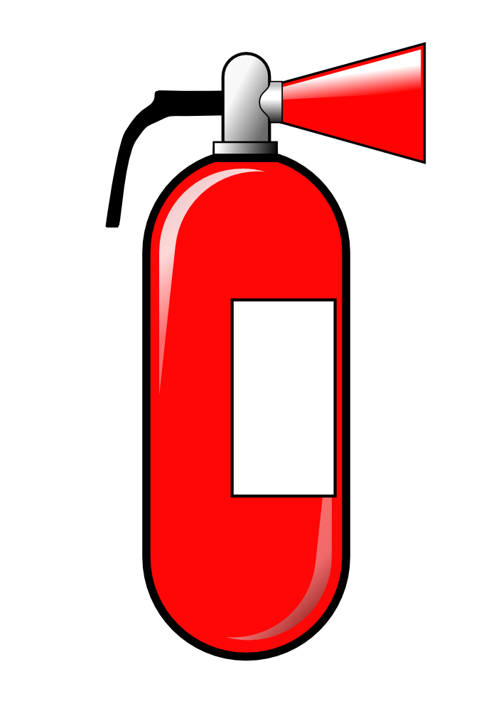 Extinguisher . Clipart fire vector