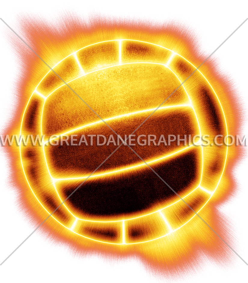 Volleyball clipart orange. Fire production ready artwork