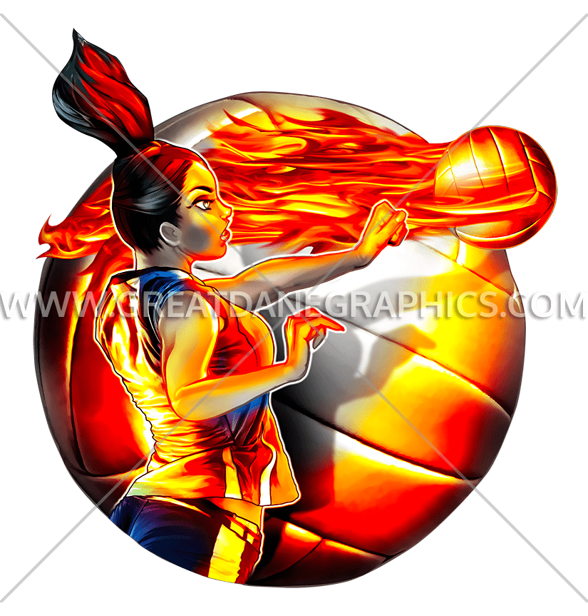 Fire spike production ready. Clipart volleyball red