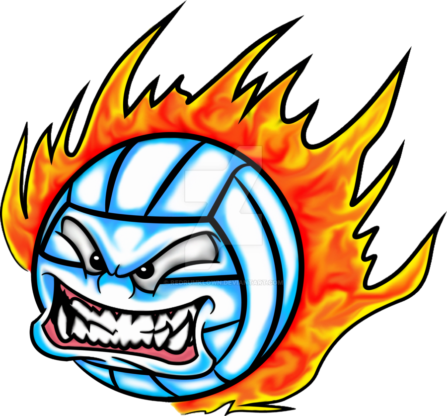 Clipart volleyball flame. On fire f