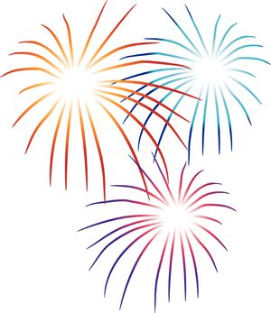 Party plan a th. Clipart fireworks