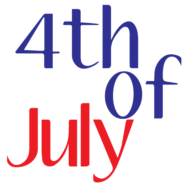 July clipart header. Fourth of th fireworks