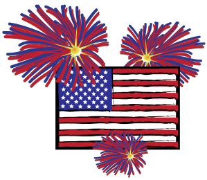 American with images gallery. Fireworks clipart flag