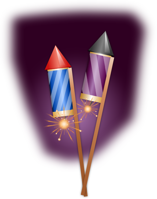 Firecrackers animations vectors rockets. Clipart fireworks animated free