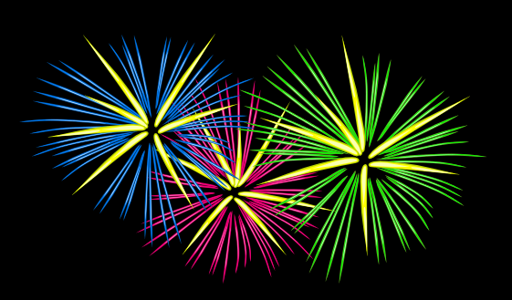 Free animated fireworks cliparts. Firework clipart motion