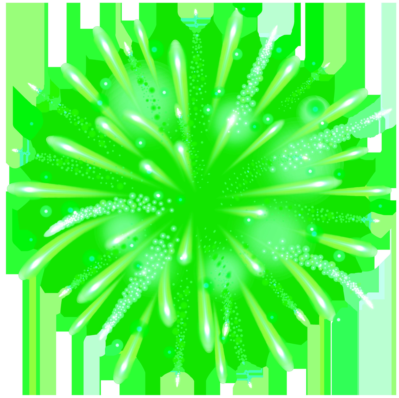 Green firework transparent clip. Clipart fireworks black background
