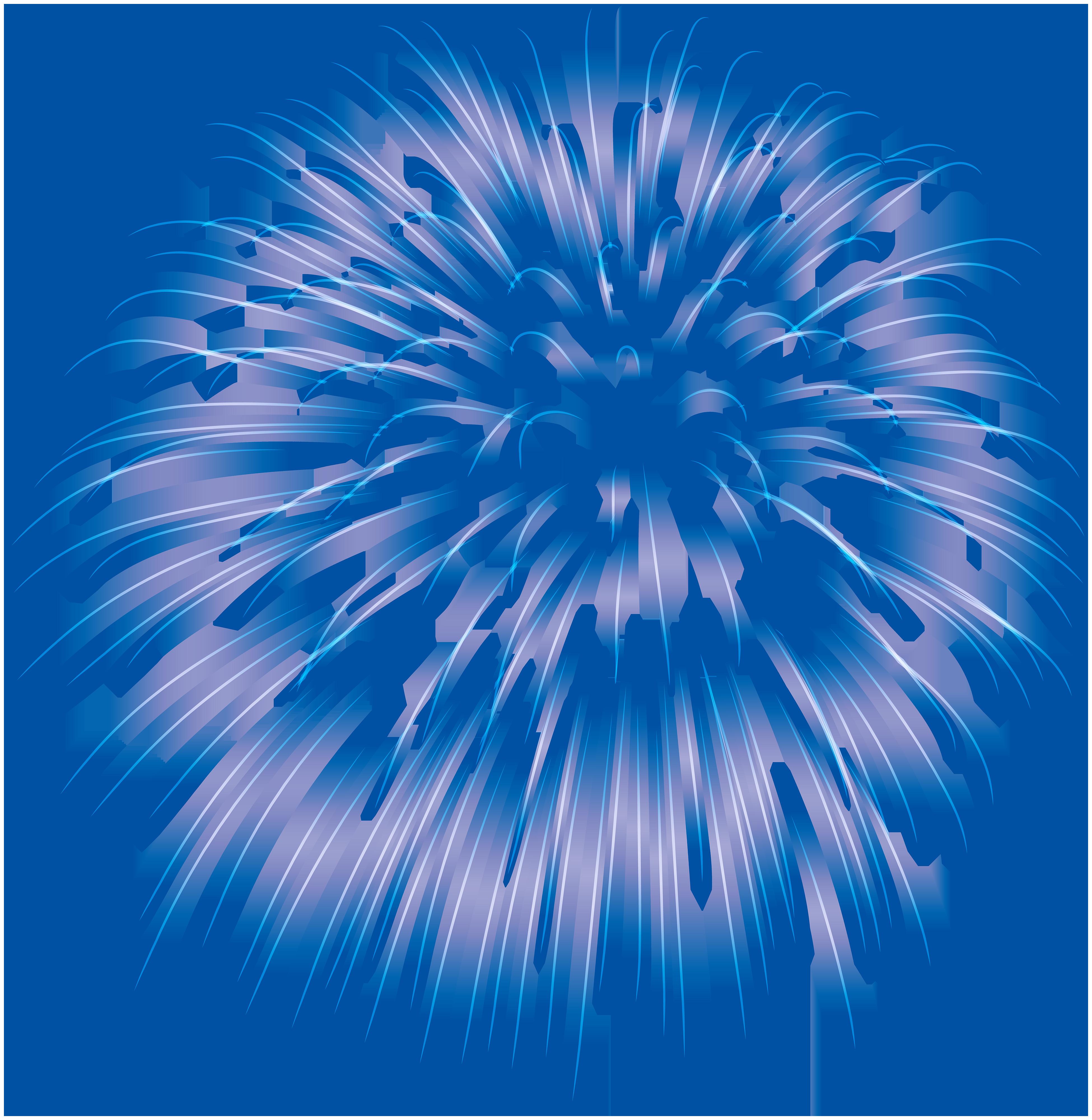 Clipart fireworks black background. Firework blue transparent png