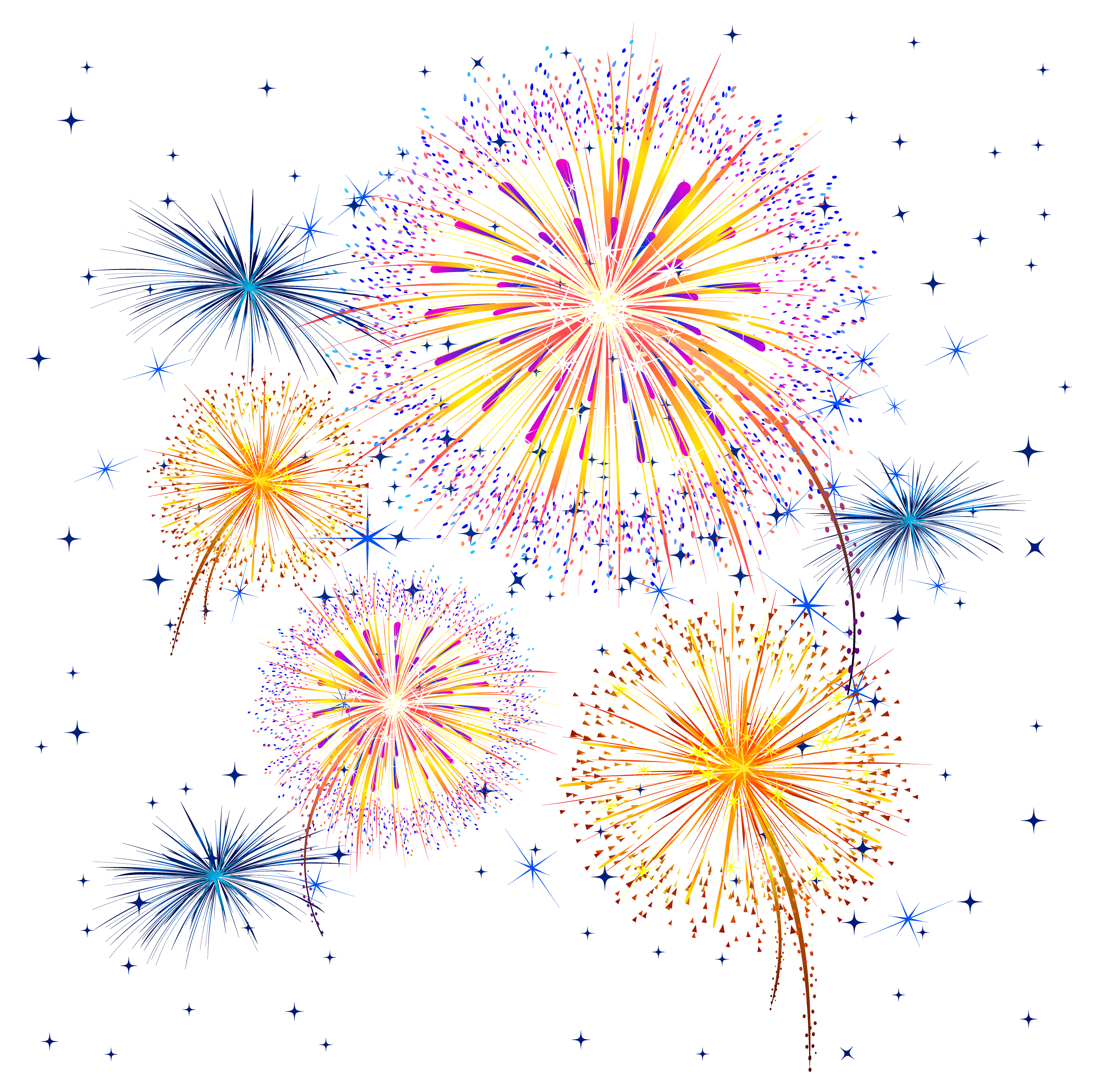 Pin by marina on. Clipart fireworks border