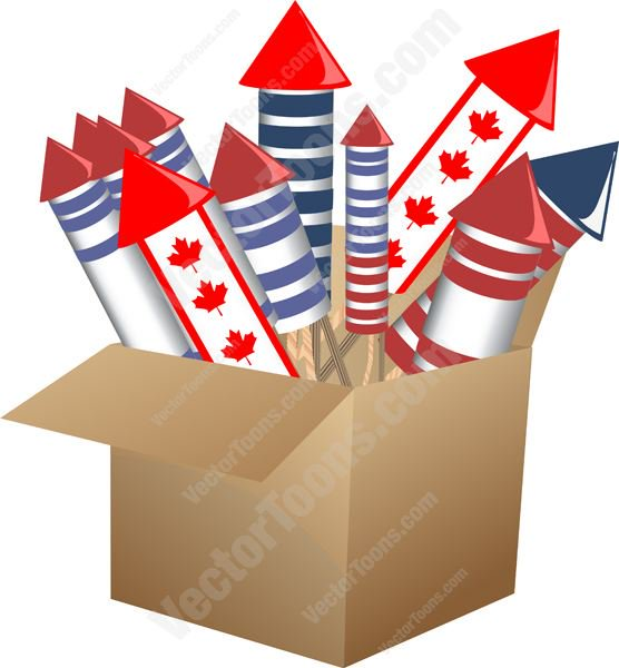 Pictures of cartoon fireworks. Firework clipart box