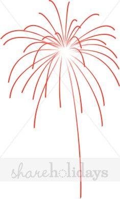 Bursting red fourth of. Firework clipart burst