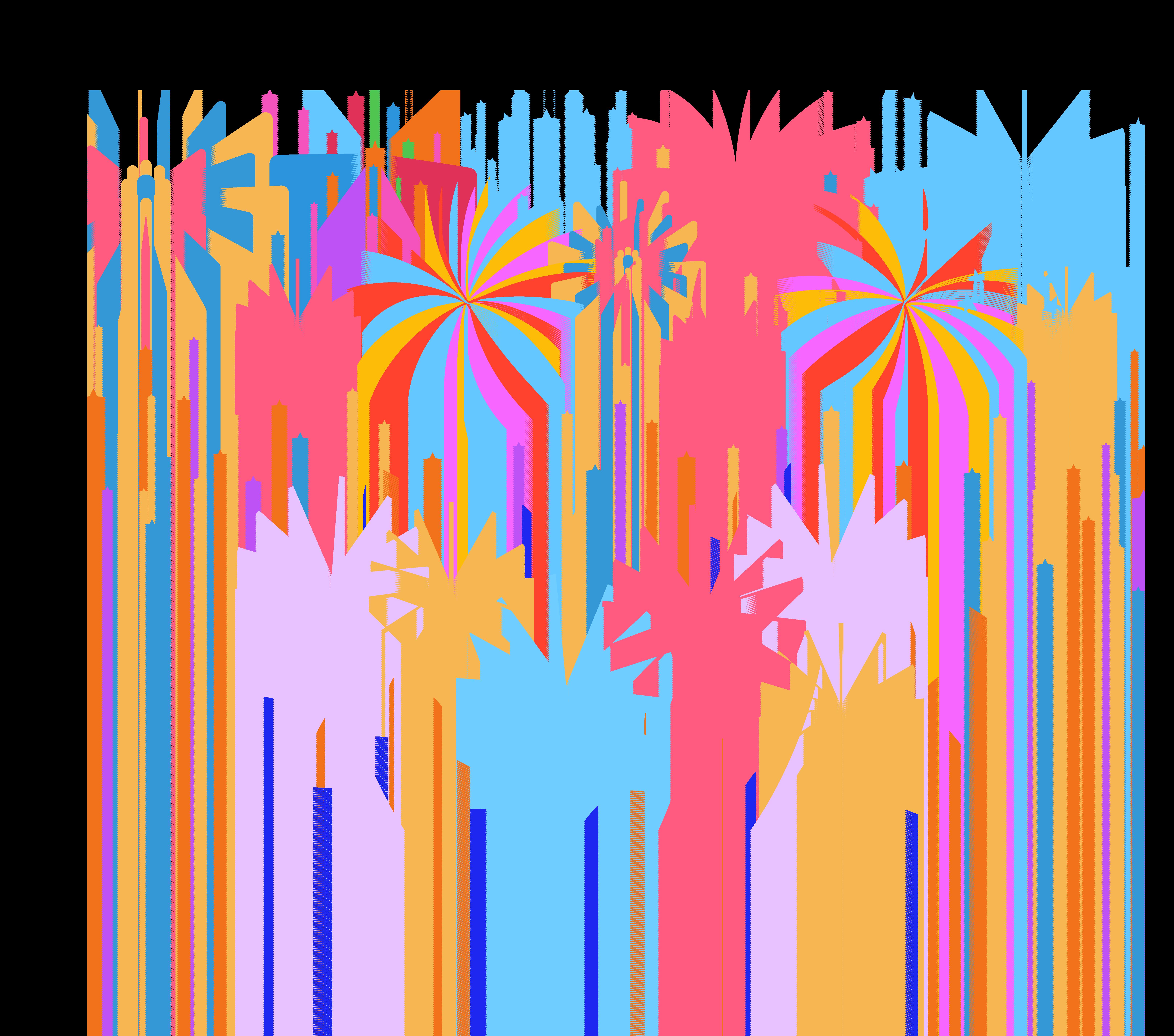 Clipart fireworks confetti. Adobe bloom festival celebrations