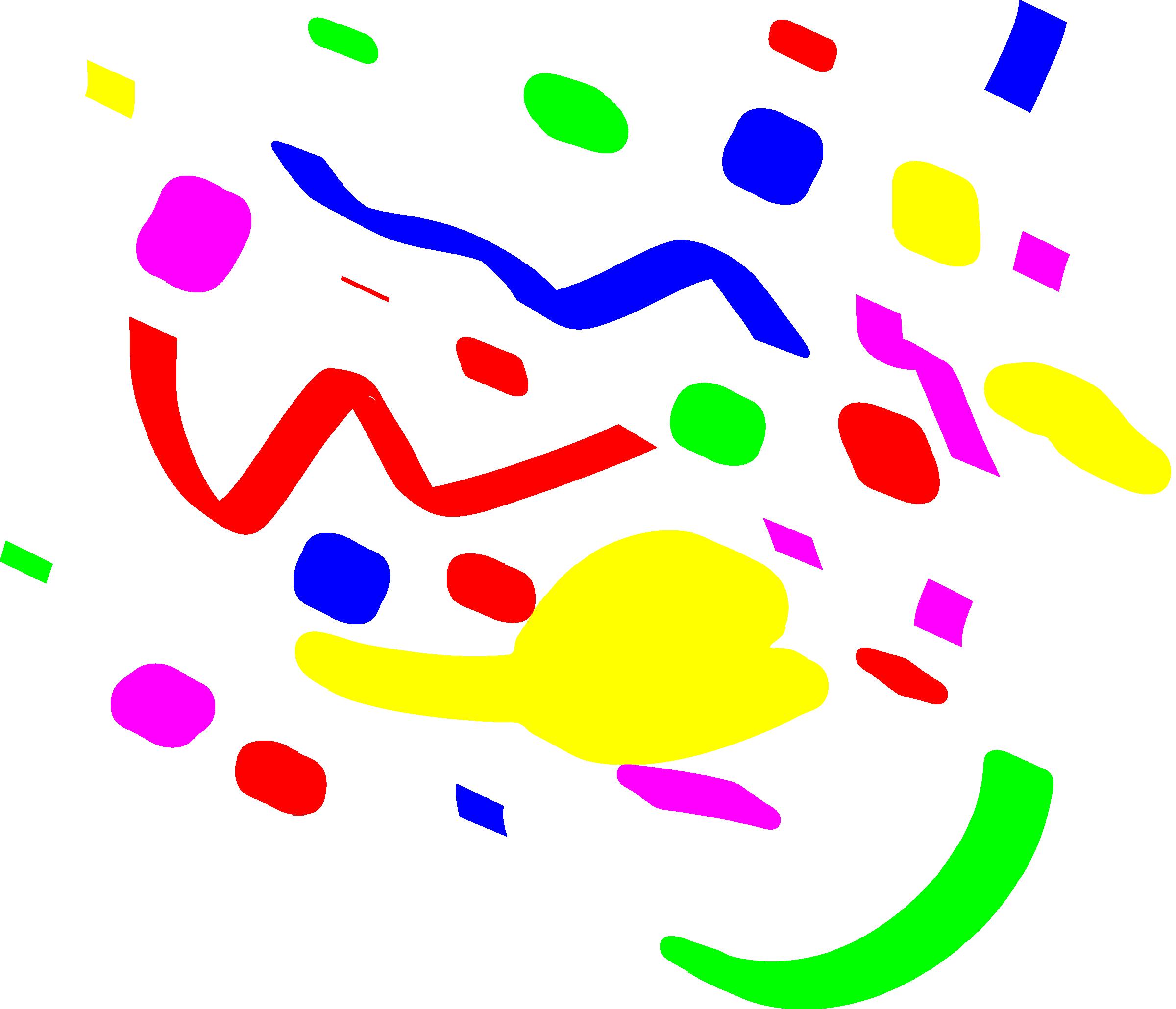 Clip art black and. White clipart confetti