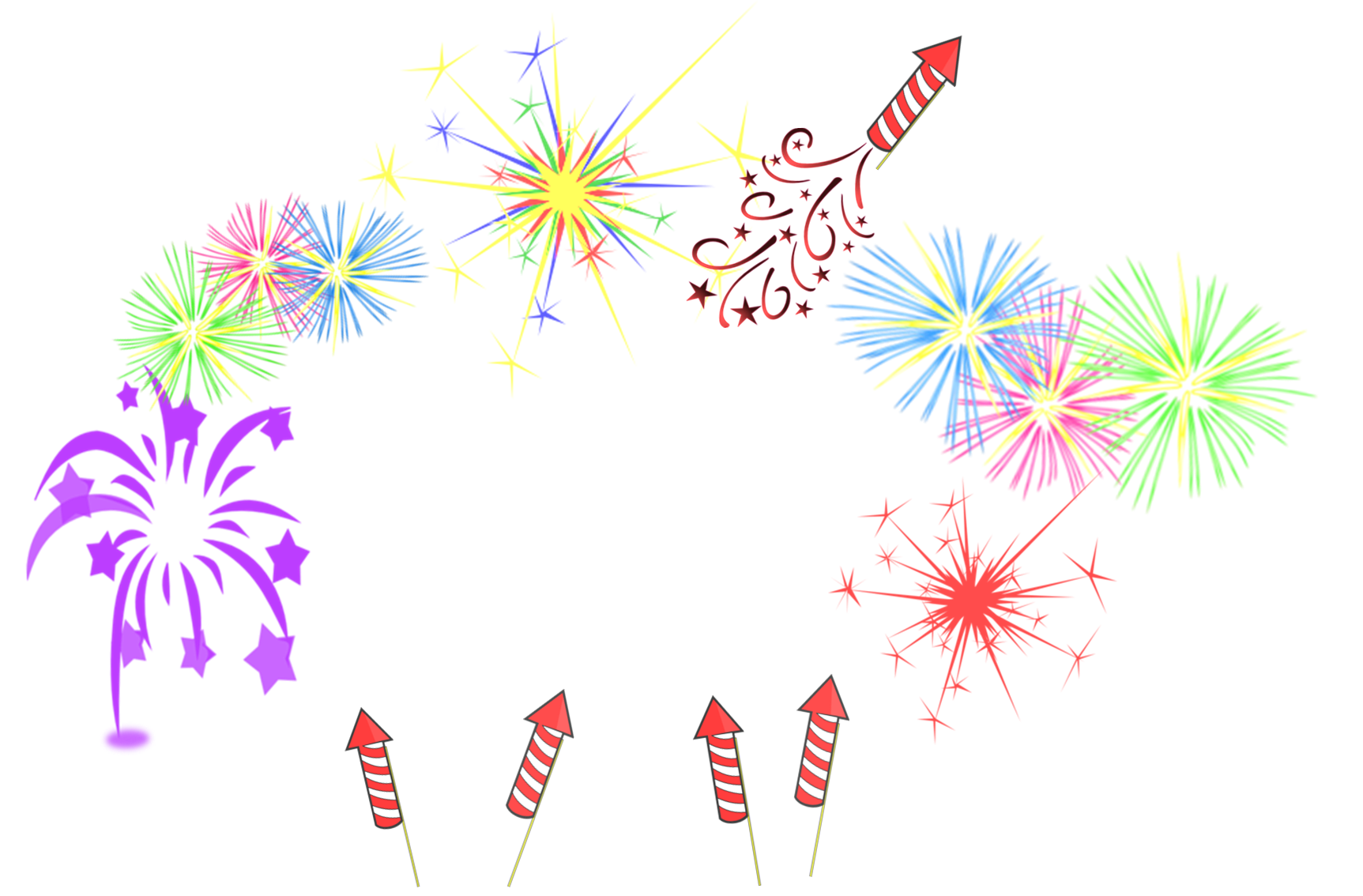 Clipart fireworks confetti. Frame free images at