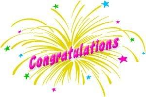 Congratulations clipart congratulation word. Balloons kid thanks